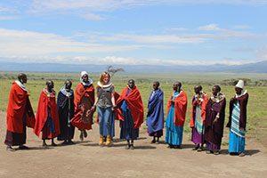 בני שבט המסאי באזור השימור נגורונגורו טנזניה